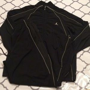 $80 Nike air Jordan black tracksuit like new